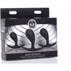DARK DROPLETS 3 PIECE CURVED SILICONE ANAL TRAINER SET